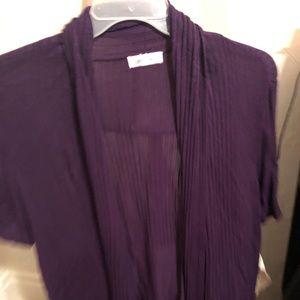 Women's shirt sleeve plus size sweater